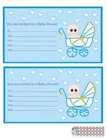 free printable blue baby shower invitations