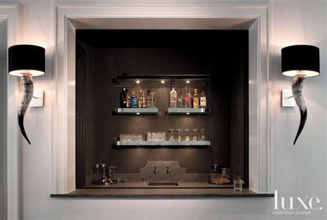 modern game room inset bar luxe interiors design