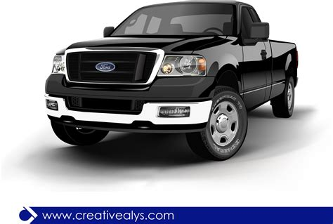 ford truck png ford realistic black pickup truck vector download