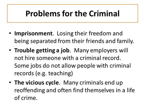 How To Get Hired With A Criminal Record Crime The The Impact Of Crime Ppt