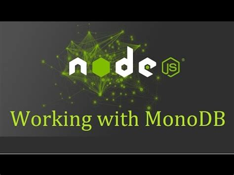 mongodb tutorial github nodejs tutorial for beginners 18 mongodb nodejs 1 5