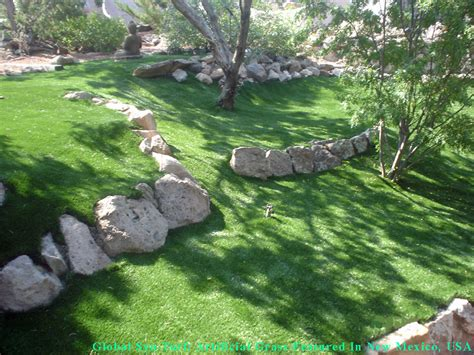 Snow Backyard Artificial Grass Las Cruces New Mexico Putting Greens