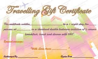 Travel Gift Certificate Template by Tour Experience Gift Certificate Template