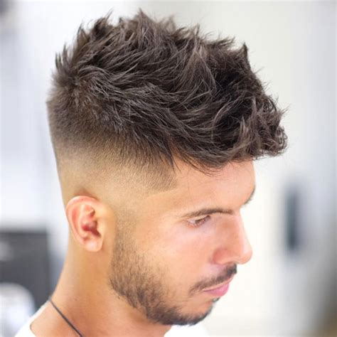 razor cut hairstyle with spiky on top 25 short haircuts for men 2018