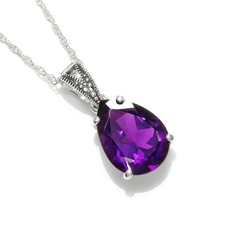 collection of purple color amethyst necklace for