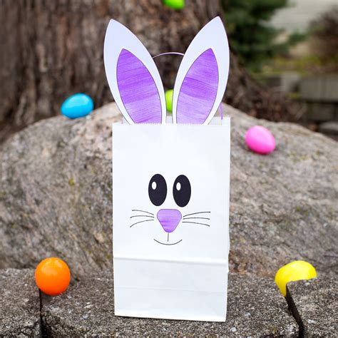 easter paper bag pattern how to make the easiest paper bag bunny craft