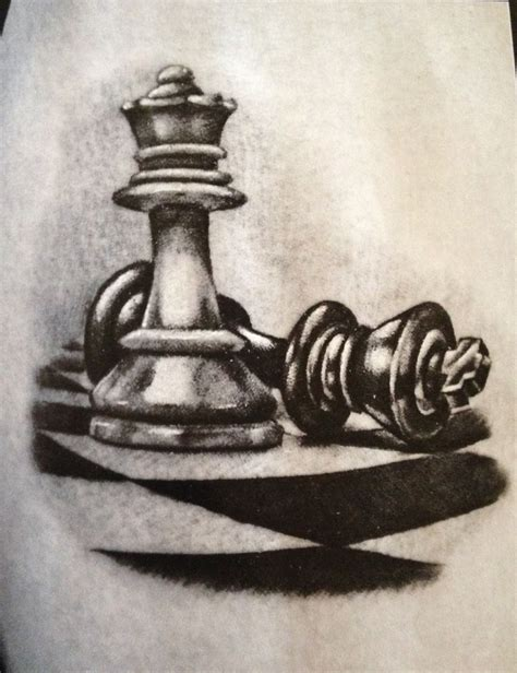 king chess piece tattoo chess pieces tattoos