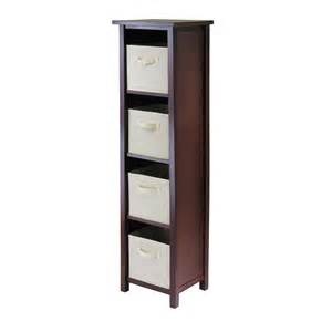 shelves with baskets for storage winsome verona 4 section n storage shelf with 4 foldable