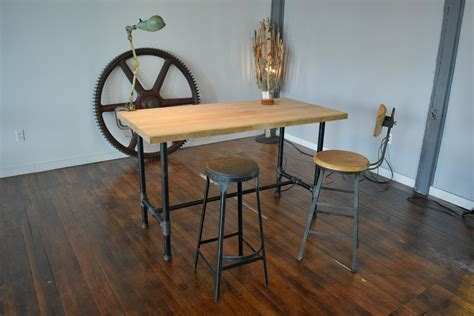 custom made table legs custom made reclaimed maple standing desk with pipe table