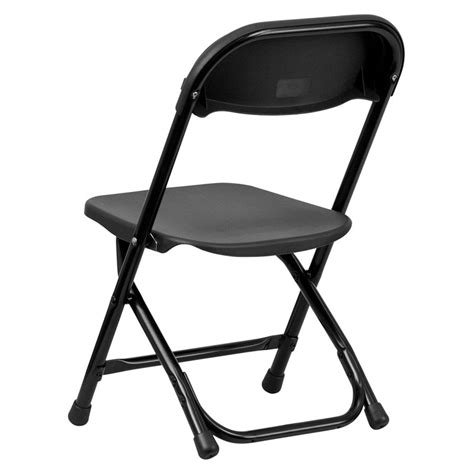 Black Plastic Folding Chairs by Black Plastic Folding Chair From Renegade Y Kid Bk