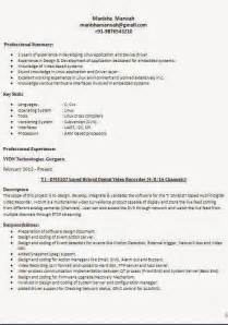 Different Resume Format by Different Types Of Resume Formats