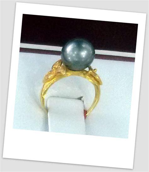 Cincin Handmade - handmade gold ring with south sea pearl ctr 070 harga