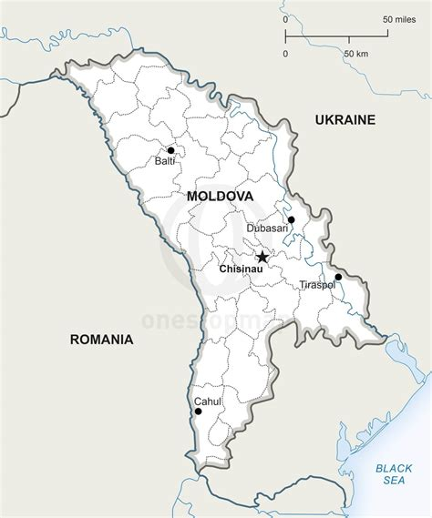 moldova map vector map of republic of moldova political one stop map