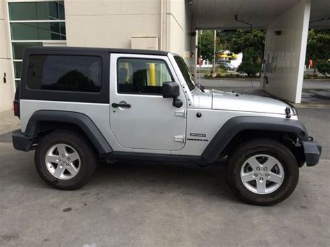 silver jeep rubicon 2 door purchase used 2012 silver jeep wrangler sport fully loaded