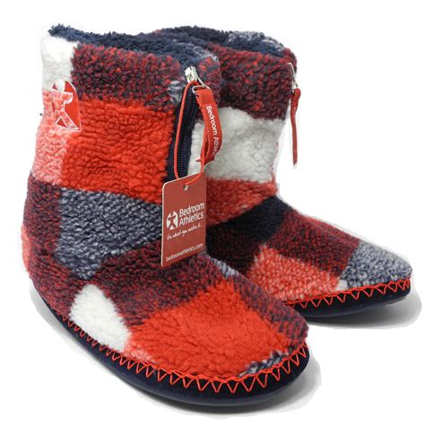 bedroom booties mens bedroom athletics sherpa fleece warm fur zipped boots