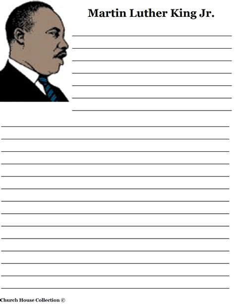 mlk writing paper church house collection martin luther king jr