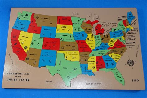 united states america map puzzle sifo commercial map of the united states inlaid wooden