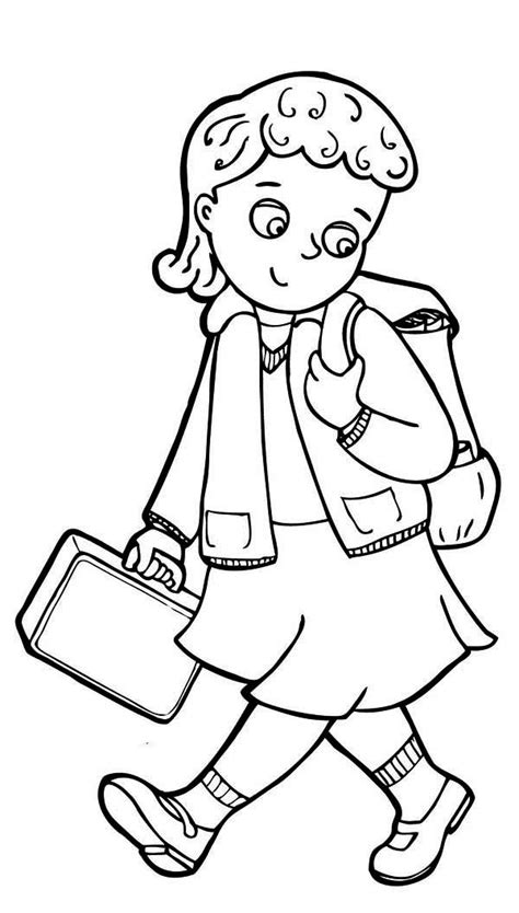 Free Coloring Pages Of A Boy Going To School Back To School Coloring Pages For Preschool