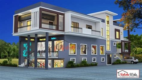 House Plans 3000 Sq Ft by Residential Commercial Elevation 3d Front View Design