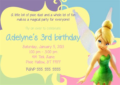 free printable tinkerbell birthday decorations 7 best images of tinkerbell party invitations free