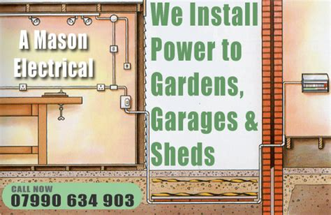 Power To A Shed by Outdoor Electrical Supply Garage Garden Electrics