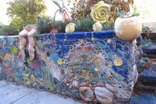 ideas mosaic wall: wall of art install a retaining wall at a craft school and you re