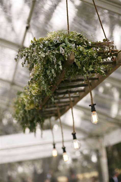 Modern hanging installation with an abundance of foliage