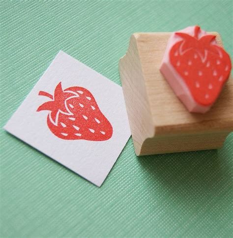 Strawberry Carved Rubber St By Skull And
