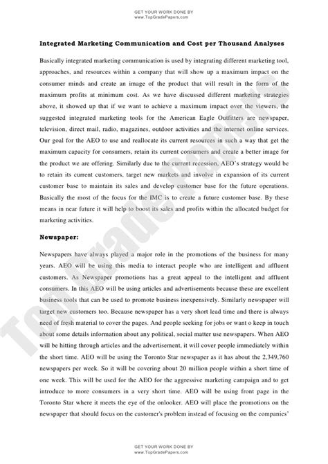 Communication Essay Exle by Integrated Marketing Communication Academic Essay Assignment Www
