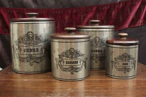 Black Kitchen Canisters Sets Vintage Kitchen Canister