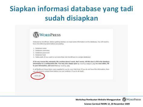 membuat website menggunakan wordpress membuat website menggunakan wordpress