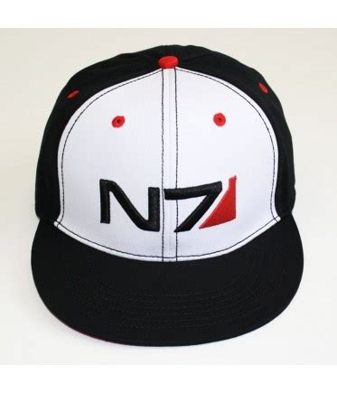 Topi Snapback Mass Effect n7 two tone snapback cap lo que me gusta bioware store