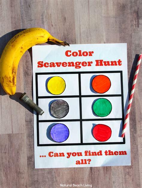 color hunt color scavenger hunt for preschoolers and toddlers