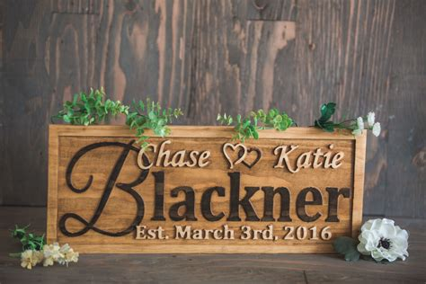 wedding gift names wedding sign gift for the custom wooden sign