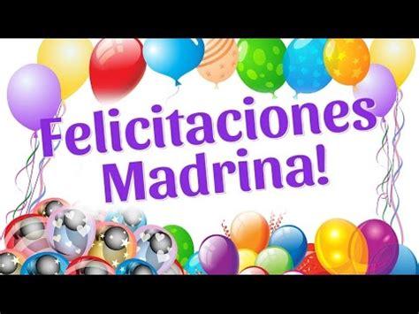 palabras de agradecimiento de madrina felicitaciones madrina en tu cumplea 241 os youtube