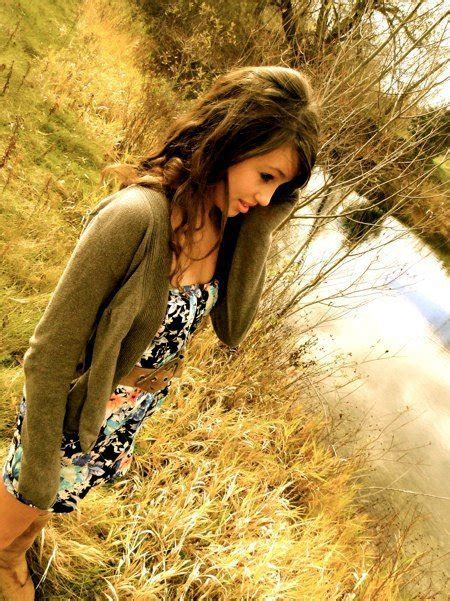 brown hair curly hair dress girl outdoors inspiring