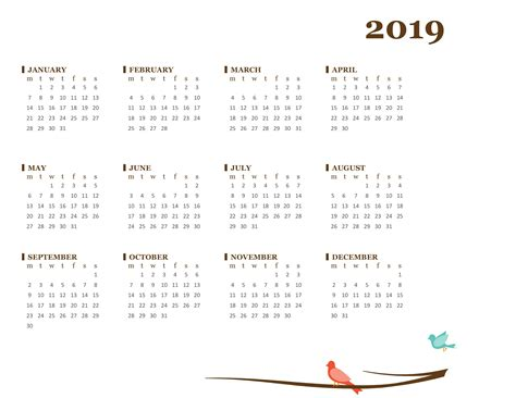printable 3 year calendar 2017 to 2019 2017 2018 2019 calendar