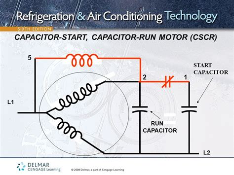 cscr motor diagram capacitor start capacitor run single