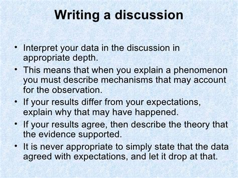 Writing A Discussion Essay by Writing The Discussion And Analysis