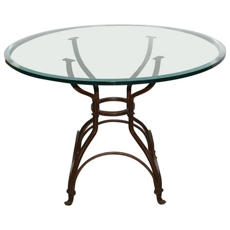 Glass Top Dining Tables With Metal Base Garden Metal Base Glass Top Dining Table For Sale At 1stdibs