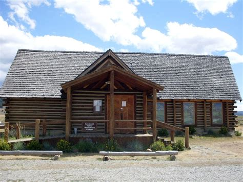 stanley log on log chapel in stanley idaho free domain stock