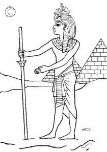 Pharaoh Coloring Page sketch template