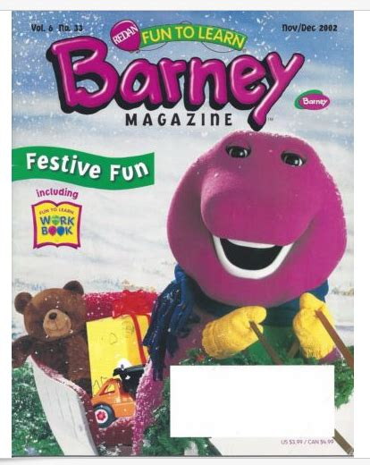 Barney And The Backyard Gang Dvd Image Barney Magazine Festive Fun Png Barney Wiki