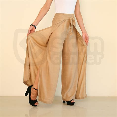 Pant Skirt high waisted palazzo copper brown womens wrap wide legged 21 00 esiamcenter