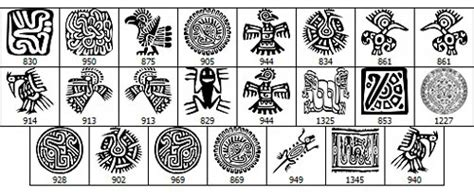 imagenes de simbolos aztecas y su significado muestra de pinceles para photoshop de simbolos aztecas jpg