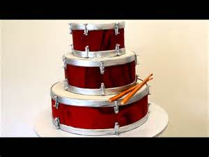 three tier drum cake marble fondant icing on the drums youtube