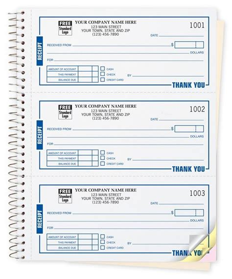 cash receipt book customized printed designsnprint