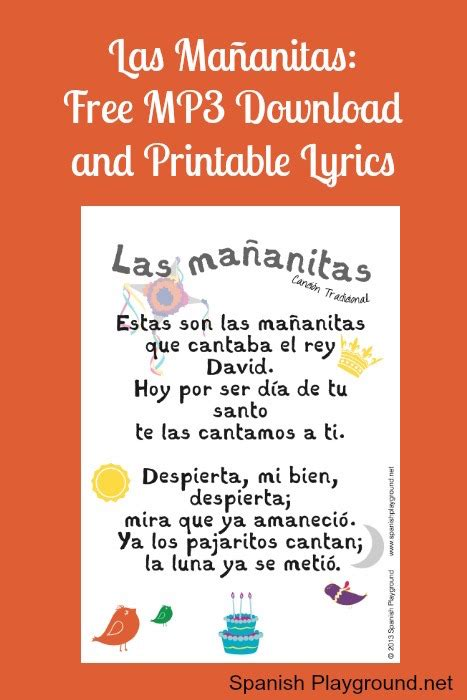 song in spanish happy birthday song in spanish free download and printable