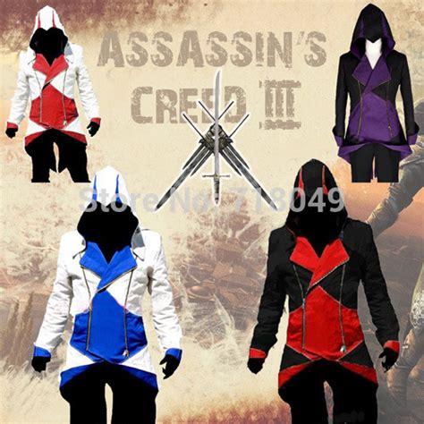 Sweater Anime Assassins Creed 4 Sweater Wg Asc 03 assassins creed 3 iii kenway hoodie coat jacket anime assassin s costume