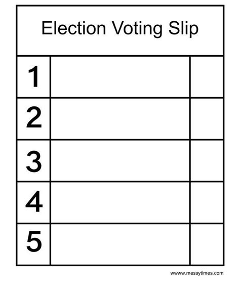 election ballots template election ballot template images template design ideas